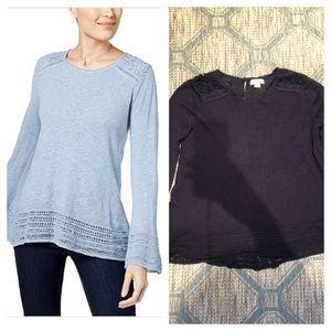 Style & Co Long Sleeve Bloom Sweater